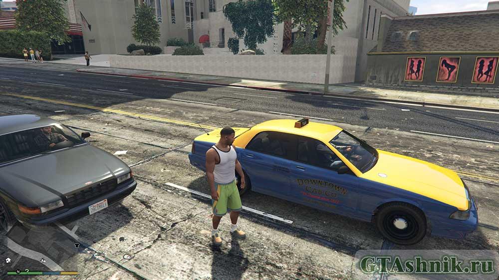 гта 5 вызванное такси
